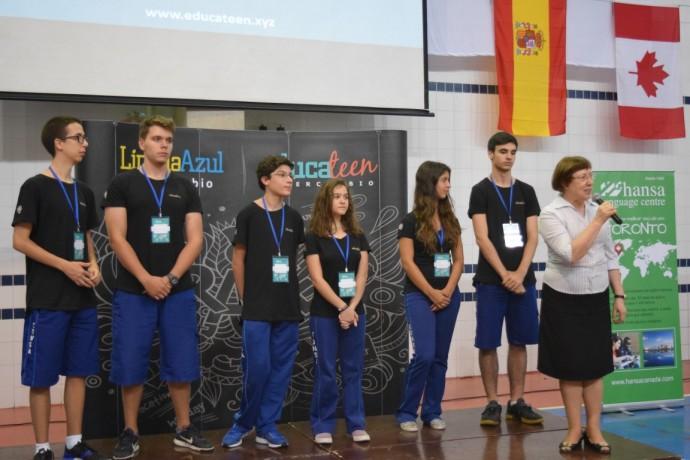 Embaixadores da Feira - estudantes do Consa que engajaram os estudantes