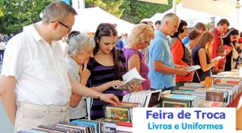 Voronezh, Russia - June 5, 2015: Buyers look through a new books on the Book Fair in city square