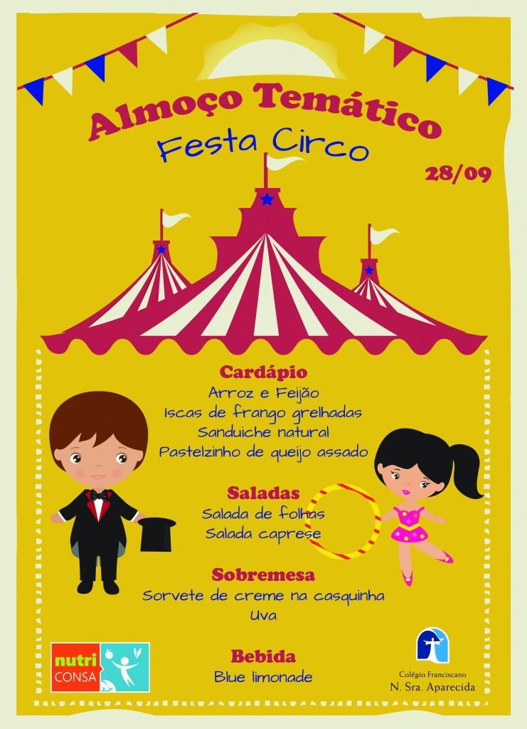 festa circo - Cardapio